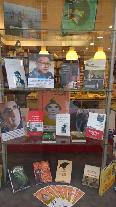 Vitrine librairie le conquerant mars 2016